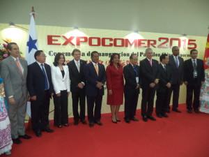 Inauguración del pabellón Chino de Expocomer