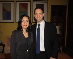 Recepción en la residencia del embajador Británico en Panamá