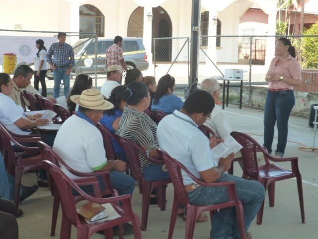 Sensibilización en el corregimiento de Las Lajas del distrito de Las Tablas