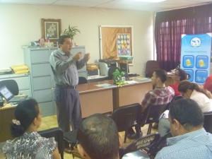 Seminario en la Dirección Regional  del Ministerio de Educación de Herrera