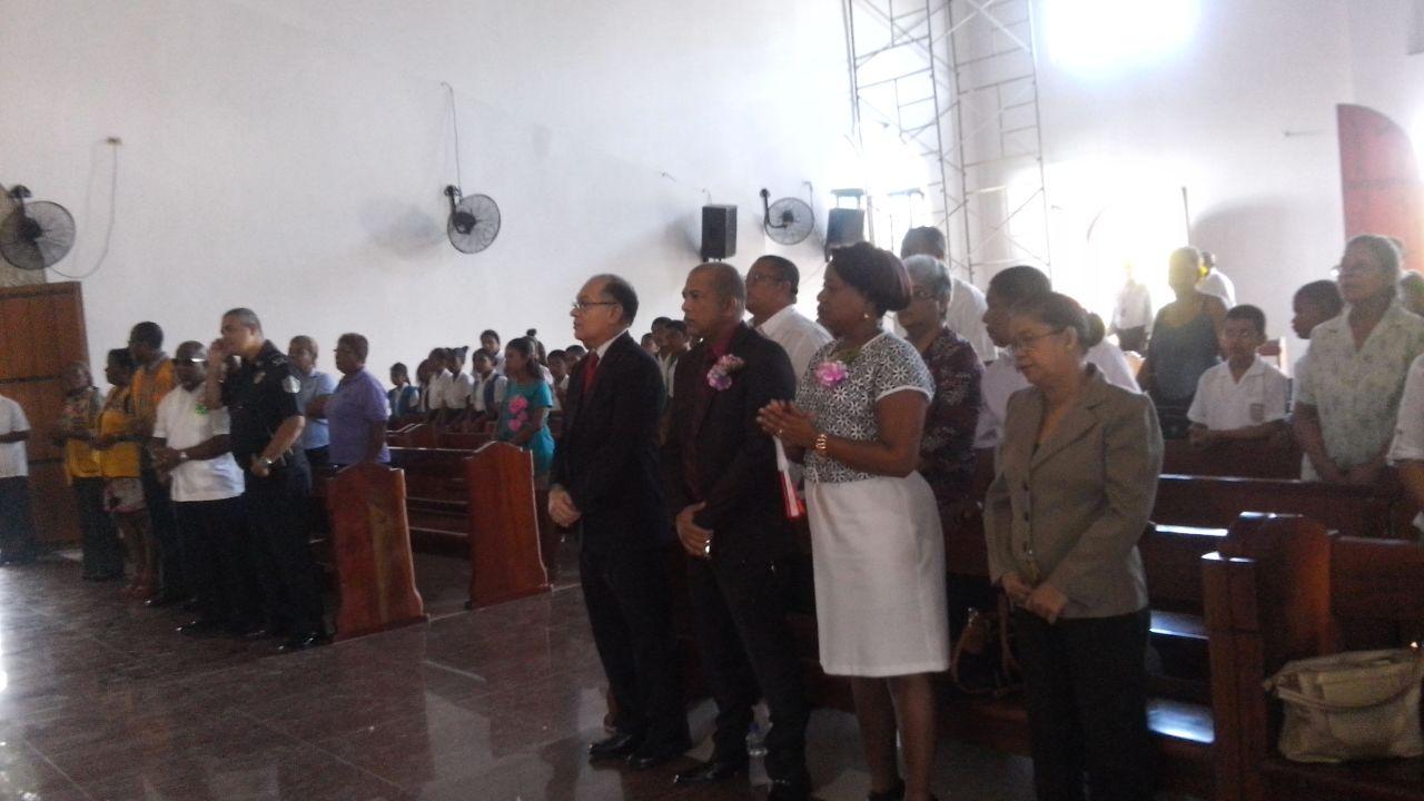 Misa en conmemoración de la fundación del corregimiento de Pedregal