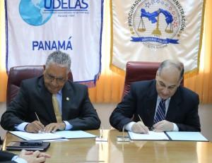 Firma de Convenio entre la Procuraduría de la Administración y UDELAS