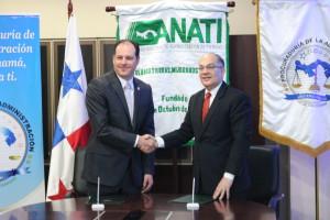 Firma de convenio entre la Procuraduría de la Administración y ANATI