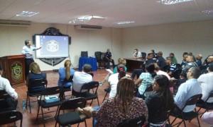 Reunión en la Zona de Policía de Herrera