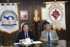 La Procuraduría de la Administración y la USMA dan prorroga a convenio marco