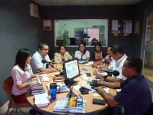 Visitas a programas radiales en emisoras Únicas  y Ondas del Canajagua
