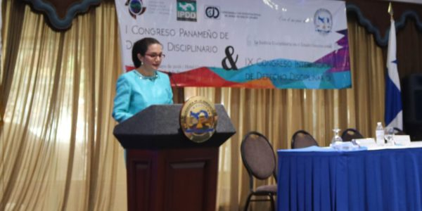 I Congreso Panameño de Derecho Disciplinario y el IX Congreso Internacional de Derecho Disciplinario