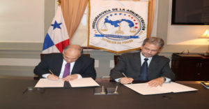Firma de convenio marco de cooperación entre la PA y el INEJ
