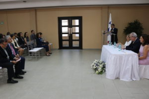 Secretaria general asiste a conferencia en conmemoración al Día Internacional de la Mujer