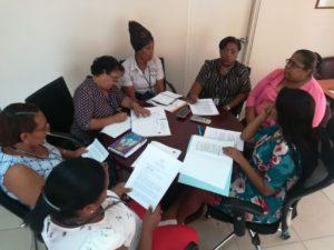 Reunión de trabajo y coordinación con funcionarias de los Centros de Mediación Comunitaria de Portobelo