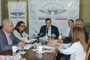 Reunión sobre los avances en la  implementación de Justicia de Paz en todo el país