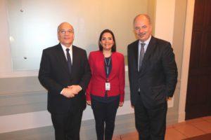 Reunión con el  embajador de Italia en Panamá