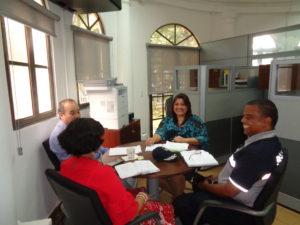 Reunión de coordinación entre la SAM y la Policía Nacional sobre capacitación para la JMJPanamá2019