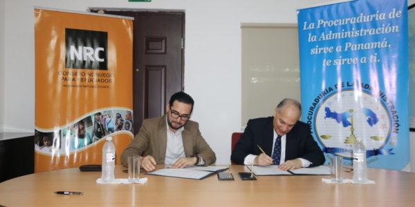 Firma de convenio de cooperación entre la PA  y el NRC