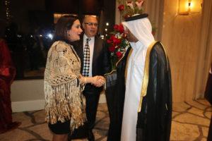 Secretaria general asiste a recepción de la Embajada de Qatar