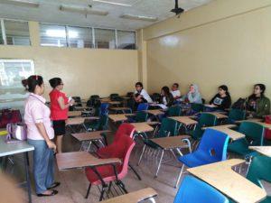 Sensibilización a estudiantes de Derecho y Ciencias Políticas en la UNACHI