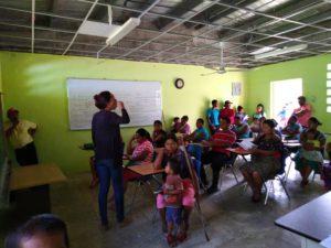 Sensibilización en el distrito de Changuinola, provincia de Bocas del Toro