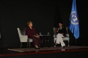 Secretaria general asiste a conferencia magistral de S.E. Michelle Bachelet sobre Derechos Humanos
