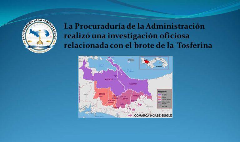 La Procuraduría de la Administración realizó una investigación oficiosa relacionada con el brote de la  Tosferina