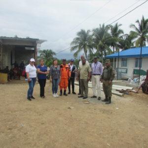 Visita al albergue temporal de migrantes de La Peñita