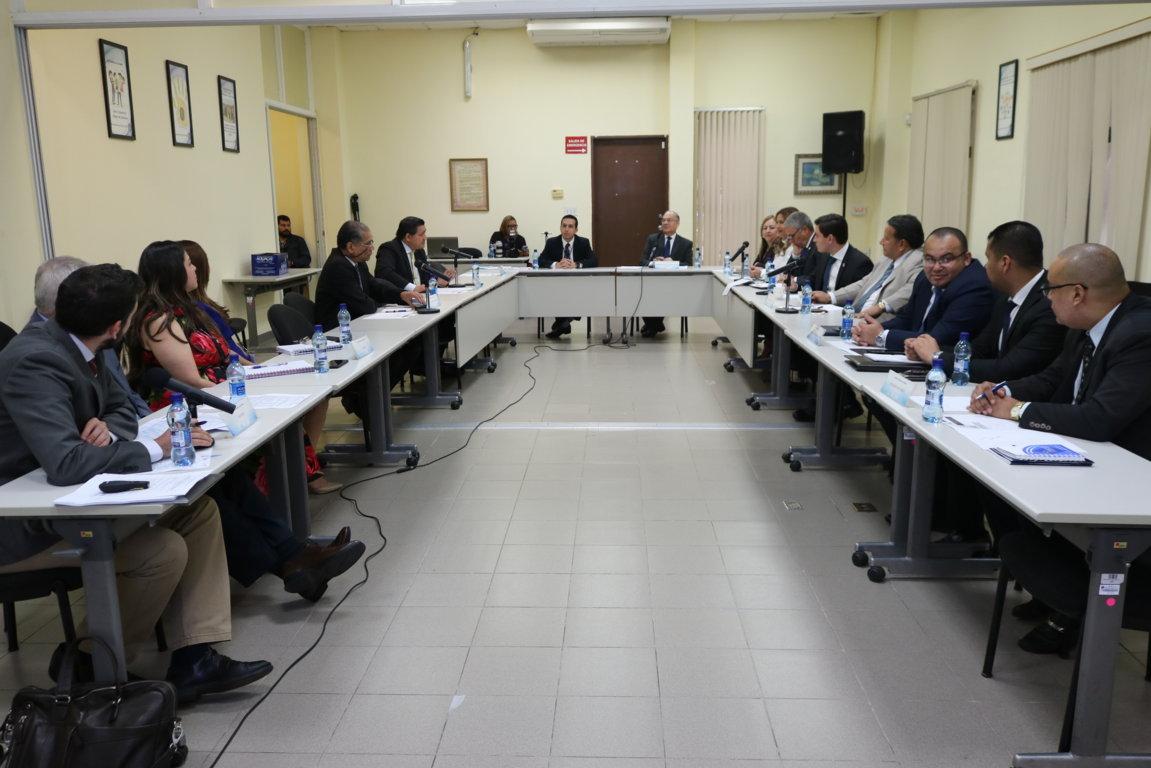 Cortesía de sala para la presentación de los consultores que preparan el proyecto del PEI del OJ