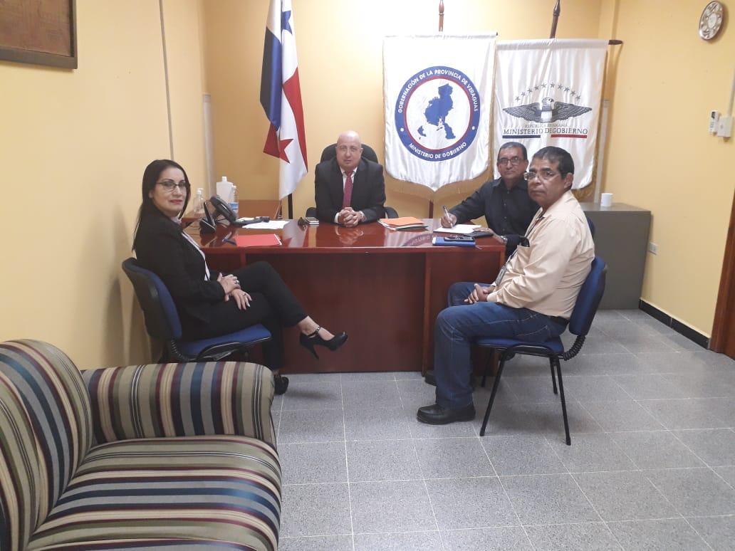 Reunión con el gobernador de la provincia de Veraguas