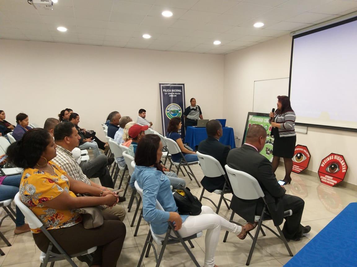 Asistencia técnica a las organizaciones de vecinos vigilantes del distrito de Arraiján