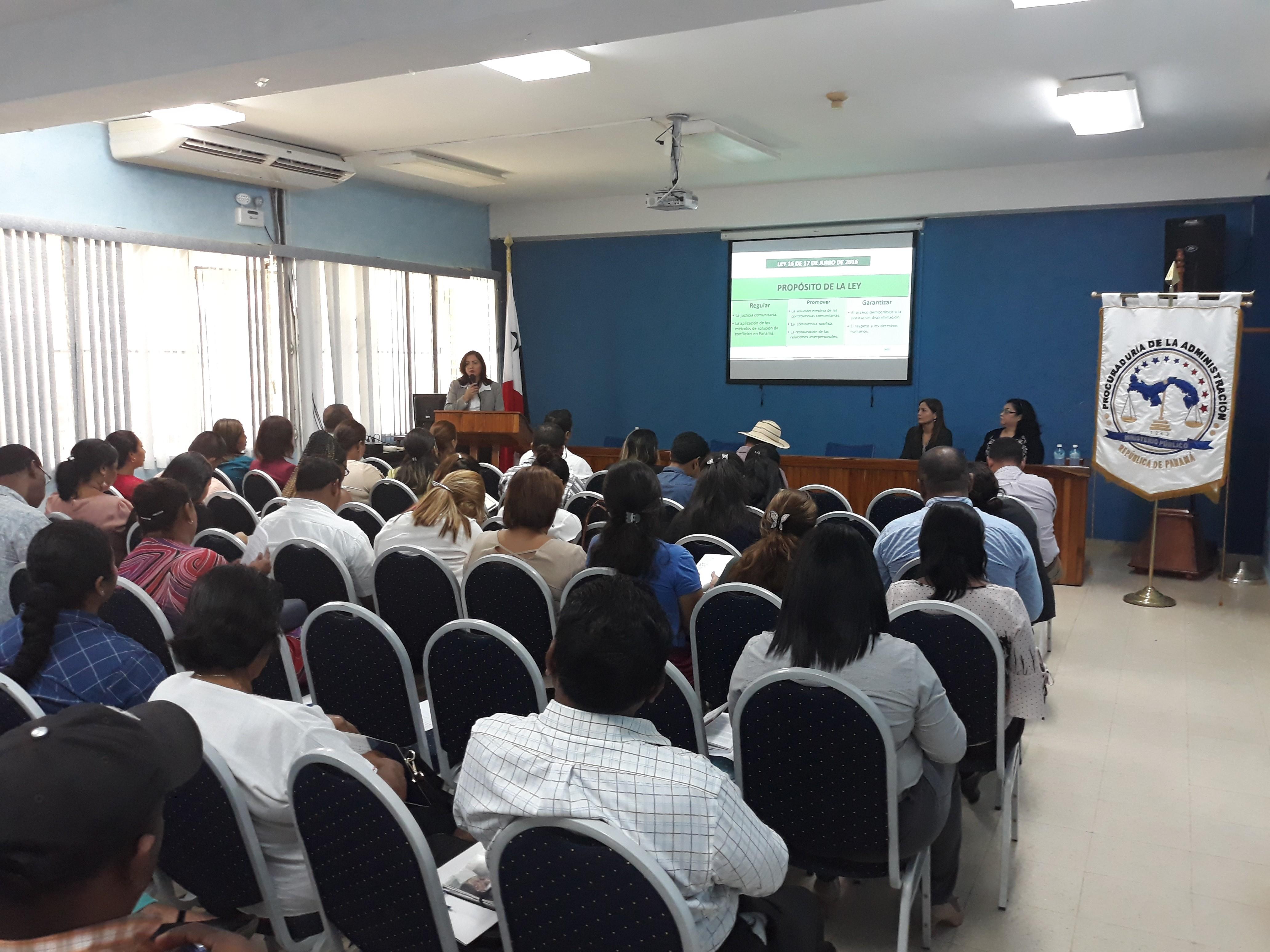 Fortalecimiento y actualización de la justicia comunitaria  de  paz en Coclé