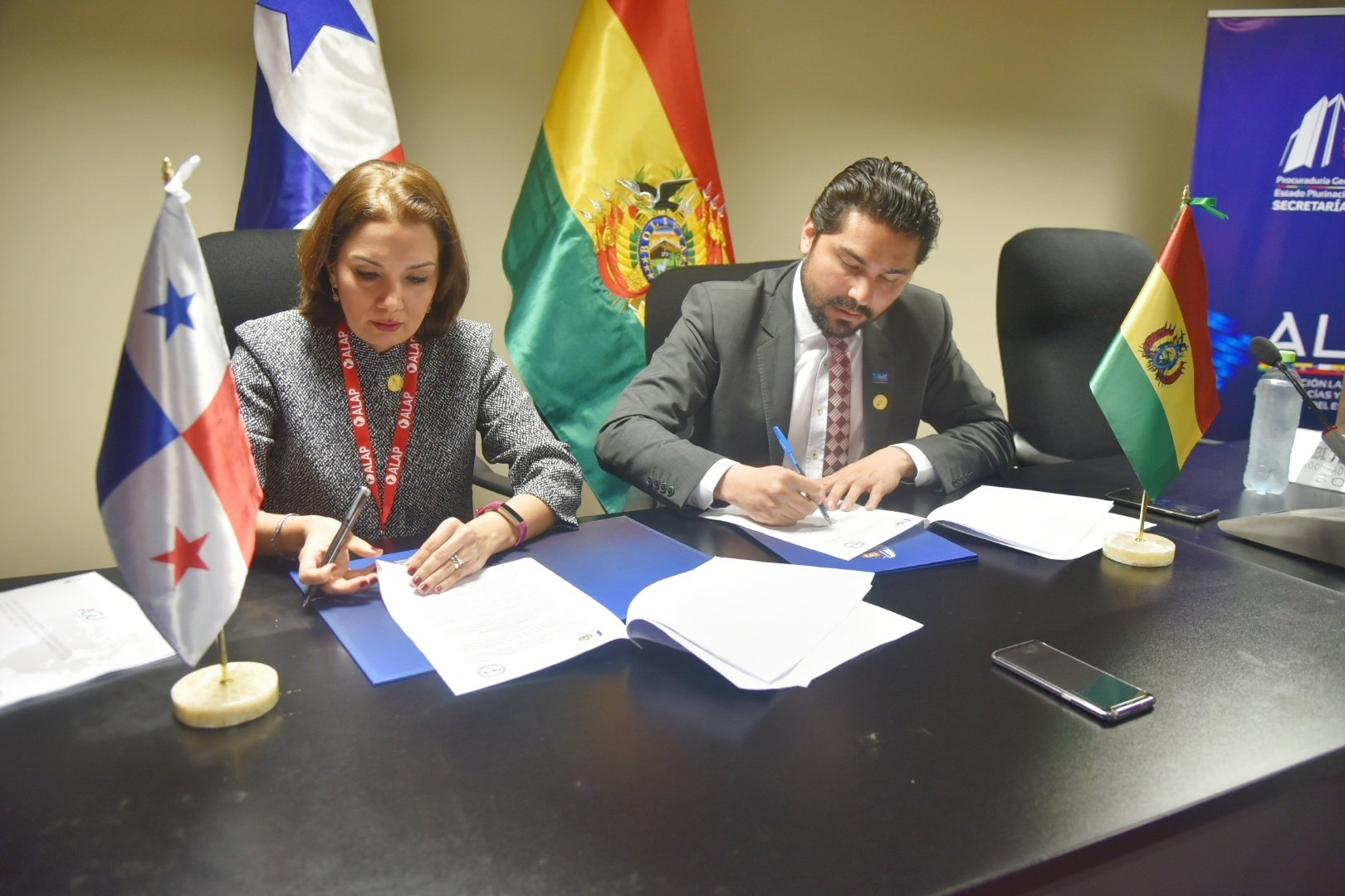 Firma de Acuerdo Interinstitucional Internacional de Cooperación Recíproca con la Procuraduría General de Bolivia