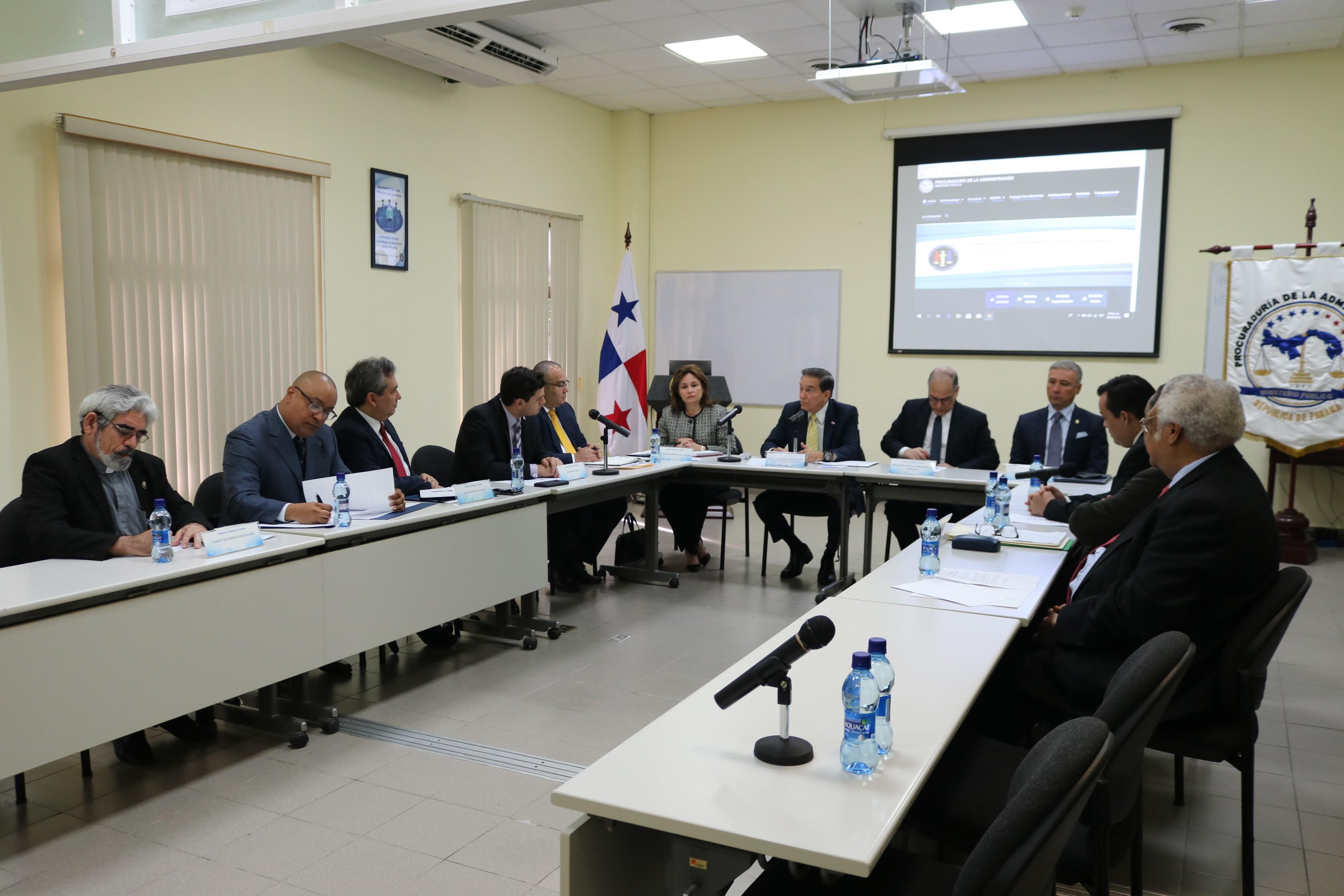 Presidente Cortizo se reúne con la Comisión de Estado por la Justicia
