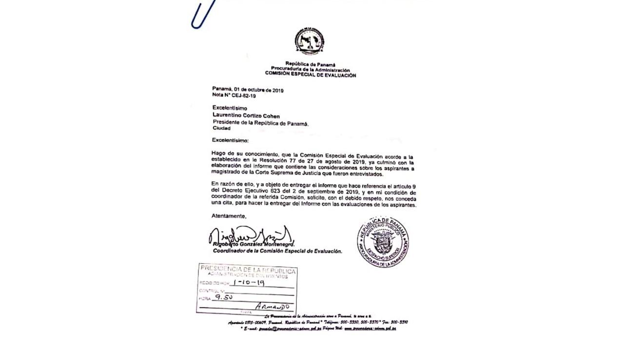 Comisión Especial de Evaluación culmina informe de consideraciones sobre aspirantes a magistrados