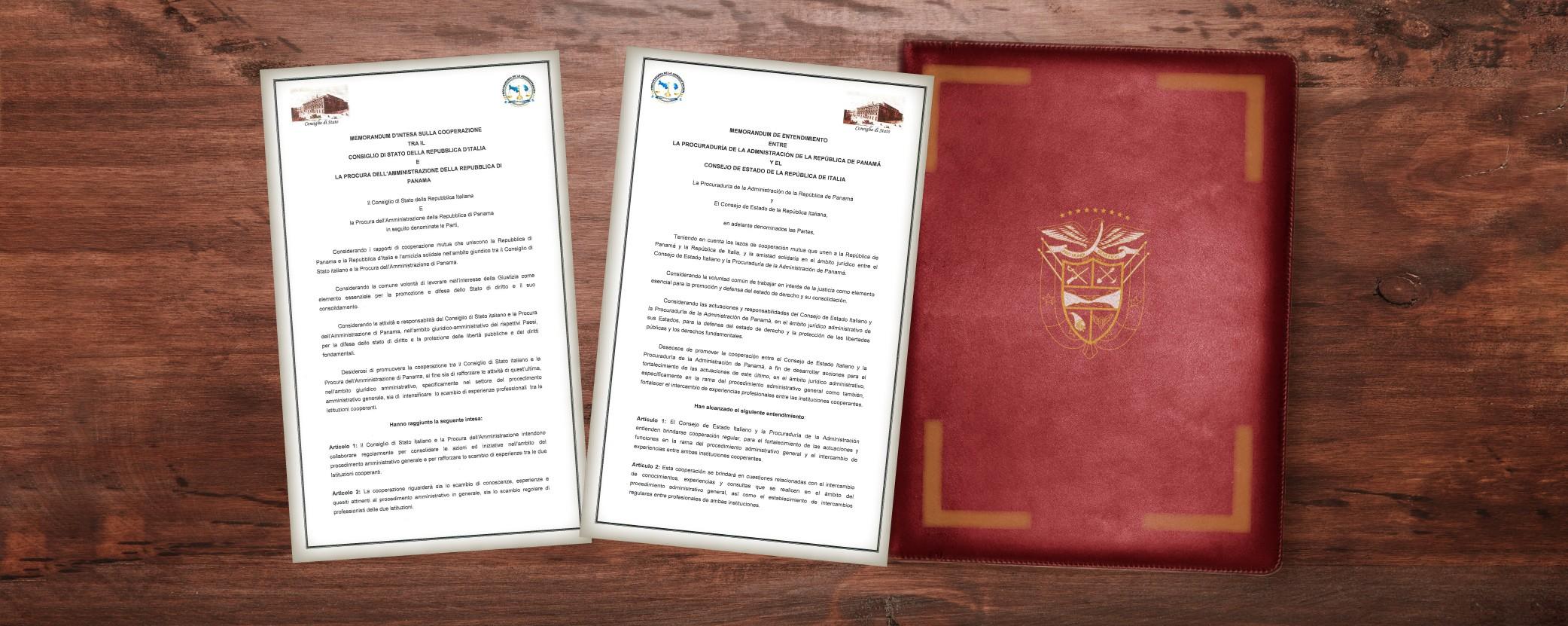 Procuraduría de la Administración suscribe Memorándum de Entendimiento con Consejo de Estado Italiano