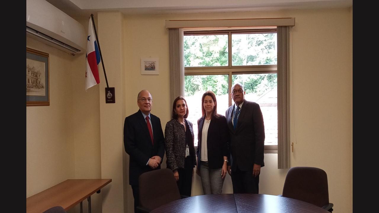 Coordinación interinstitucional con Embajadora de Panamá en Italia