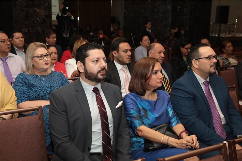 Autoridades de la procuraduría en presentación de rendición de cuentas de Sala Tercera