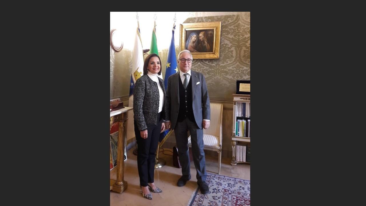 Procuradora de la Administración Suplente se reunió con el Consejo de Estado Italiano