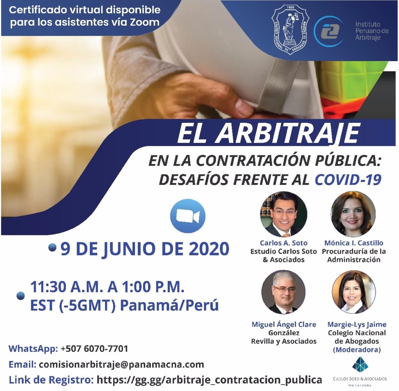 Conversatorio: El Arbitraje en la Contratación Pública: desafíos frente al COVID-19