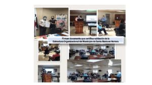 Firman documento que certifica validación de la estructura organizacional del Municipio de Santa María en Herrera