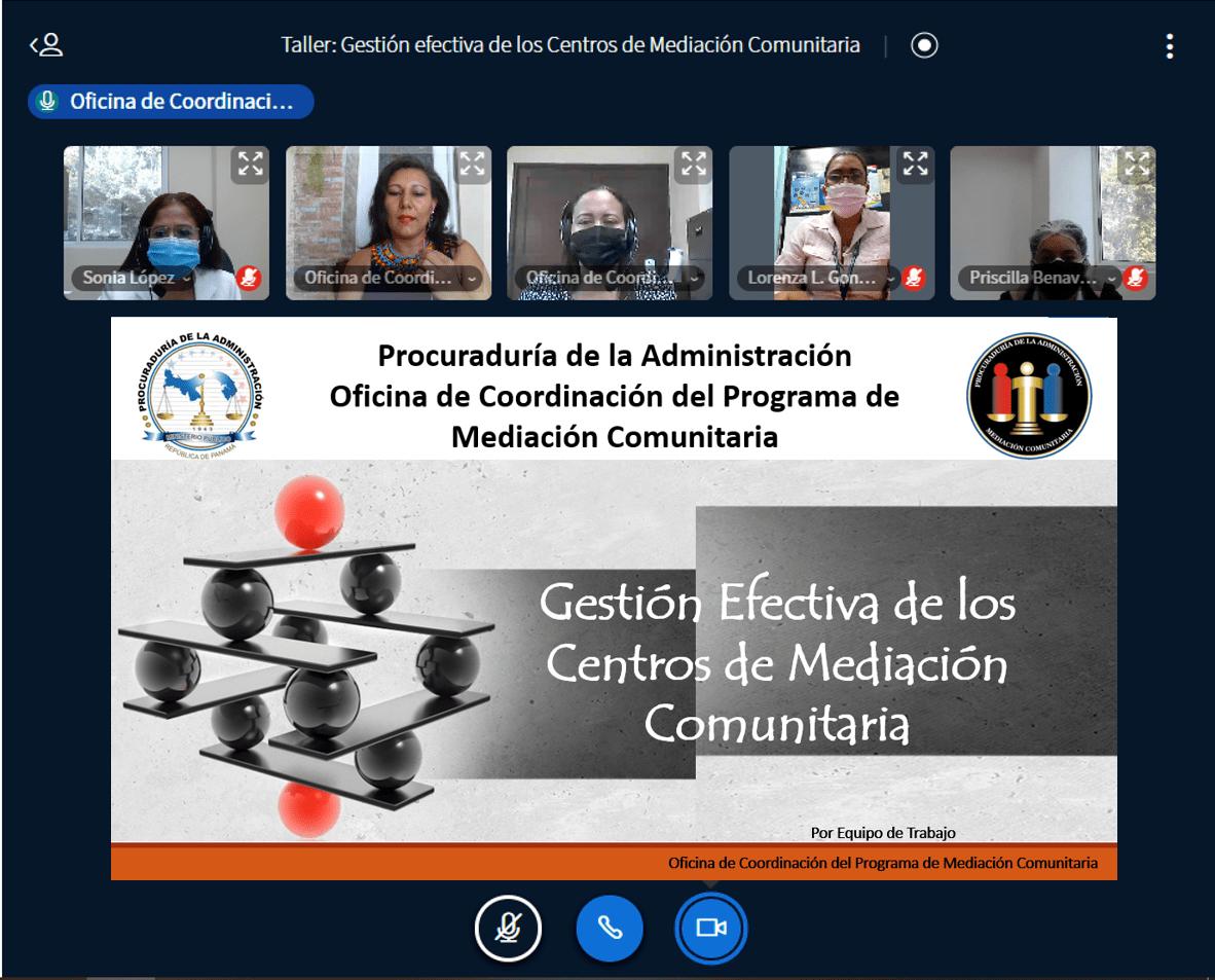 Taller virtual: Gestión Efectiva de los Centros de Mediación Comunitaria