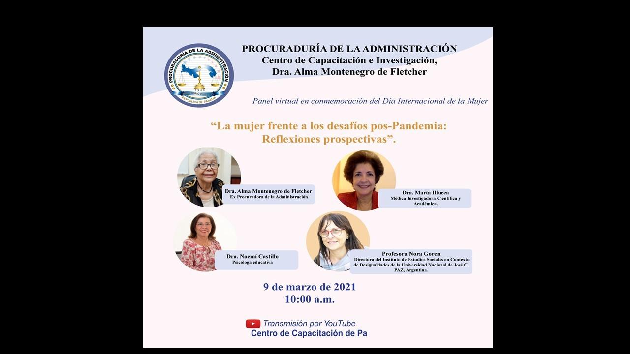 Panel «La mujer frente a los desafíos pos-pandemia: reflexiones prospectivas»