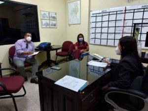 Reunión de coordinación con la oficina regional de AMUPA-Veraguas