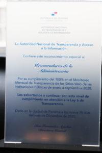 ANTAI reconoce compromiso de la Procuraduría de la Administración en materia de transparencia.