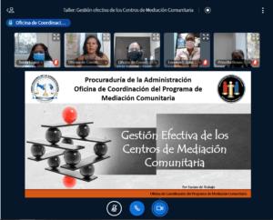 Lee más sobre el artículo Taller virtual: Gestión Efectiva de los Centros de Mediación Comunitaria