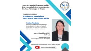 Lee más sobre el artículo Conferencia virtual organizada por el departamento de Ética y Gestión Pública