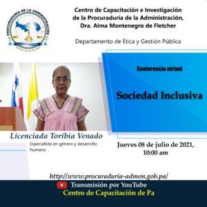 """Lee más sobre el artículo Departamento de Ética y Gestión Pública brindó conferencia virtual sobre """"Sociedad Inclusiva"""""""