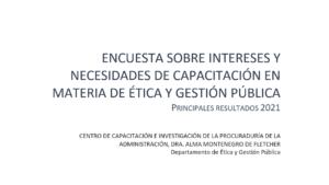 Lee más sobre el artículo INTERÉS DE CAPACITACIÓN EN MATERIA DE ÉTICA Y GESTIÓN PÚBLICA: Resultados de encuesta
