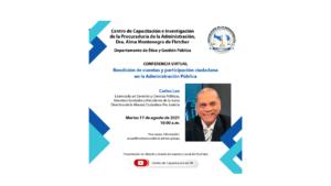 Lee más sobre el artículo Conferencia virtual: Rendición de Cuentas y Participación Ciudadana
